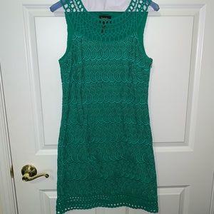 {Laundry} Green Lace Dress